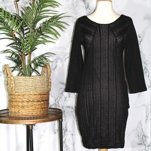 Sanctuary Long Sleeve Black Dress